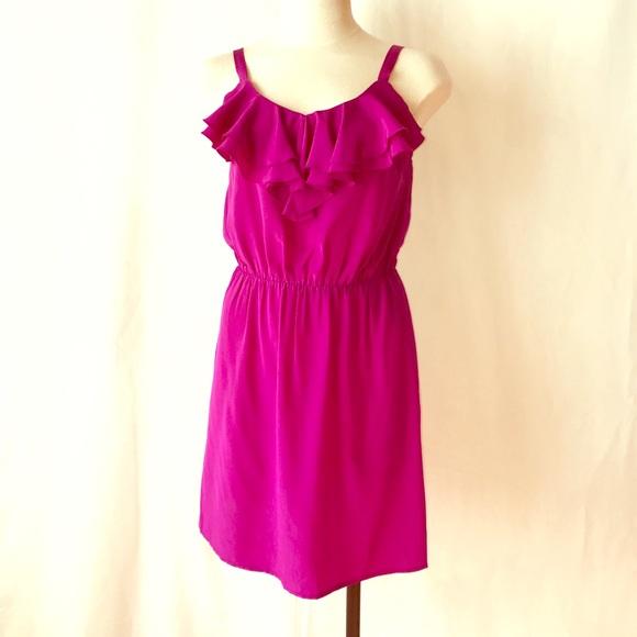Amanda Uprichard Dresses & Skirts - Amanda Uprichard Ruffle Silk Spaghetti Mini Dress